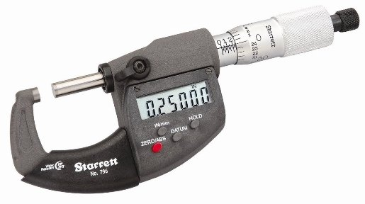 "STARRETT® 1"" DIGITAL Micrometer - USA MADE!"