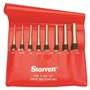 STARRETT® 8 Piece Steel Pin Punch Set with Plastic Pouch - USA MADE!