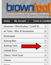 OOPS! We have over 3400 different tools on our website. Click on the DOWN ARROW next to the Main Category Title that you just clicked that brought you here and you will see one or more sub categories.