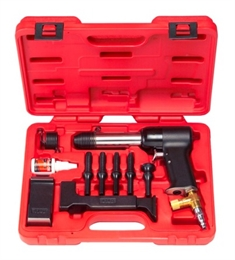 "Deluxe ""737"" Rivet Gun Kit with 3X Rivet Gun & Bucking Bars"