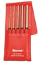 "STARRETT® 5 Piece 8"" LONG Pin Punch Set with Plastic Pouch - USA MADE!"