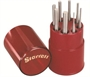 STARRETT® 8 Piece Steel Pin Punch Set with Round Storage Box - USA MADE!