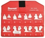 STARRETT® 16 Piece Radius Gage Set - USA MADE!
